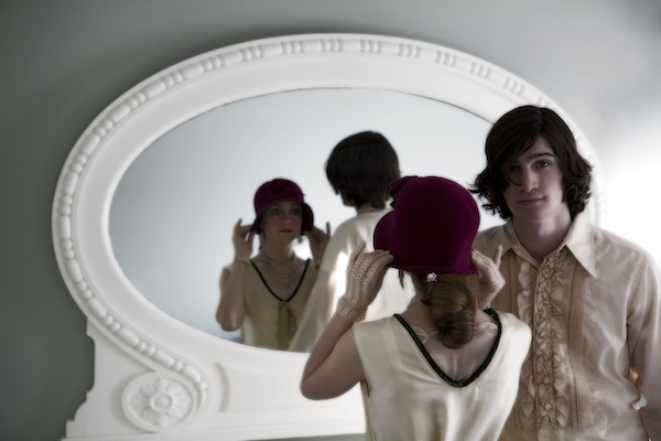 The Pleasants in a mirror