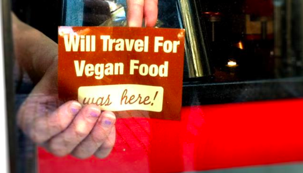 Will Travel for Vegan Food Decal