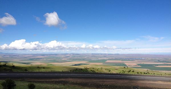 Somewhere between Denver and Portland.