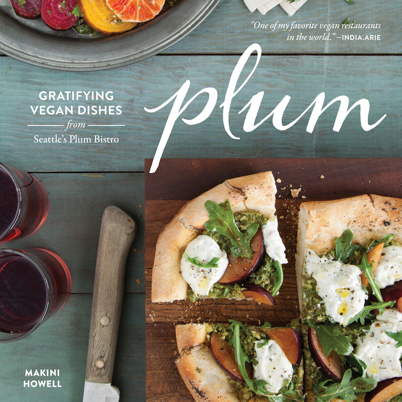 Cover for Plum's vegan cookbook
