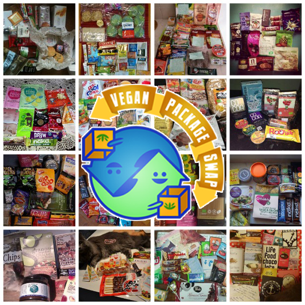 A collection of packages from the Vegan Package Swap.