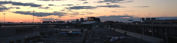 Pearson International Airport sunset
