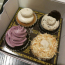 Four vegan cupcakes in a box from Sweets from the Earth