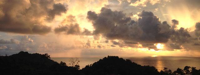 The sunset from Hostel Serena Vista, Costa Rica