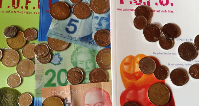 T.O.F.U. Magazine with Canadian currency