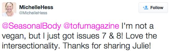 Screencap of a tweet by Michelle Hess
