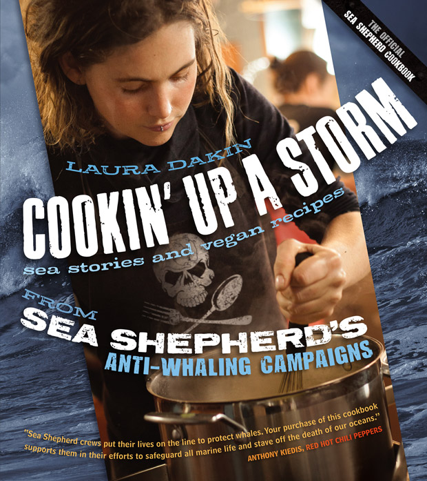 Cover of the official Sea Shepherd vegan cookbook