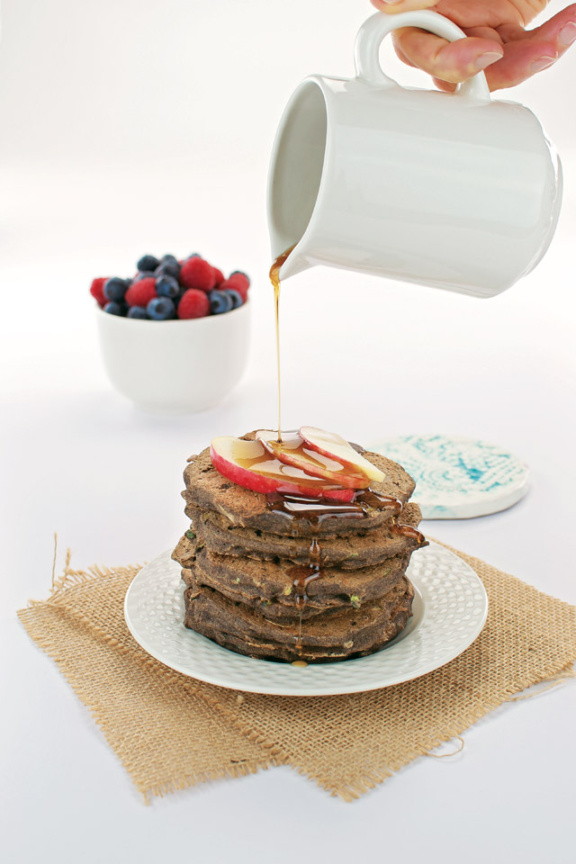 The Easy Vegan Cookbook Apple Zucchini Buckwheat Pancakes