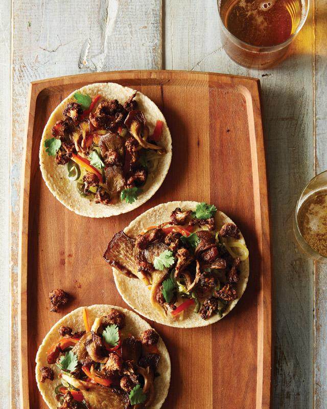 Cauliflower and Oyster Mushroom Tacos from Food52: Vegan by Gena Hamshaw