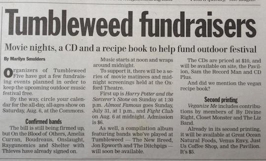 Media coverage of Tumbleweed V
