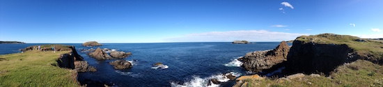 Panoramic of Puffin Viewing Site in Maberly