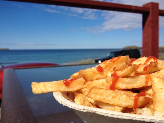 French fries at Sandy Cove Beach
