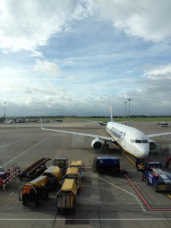 RyanAir flight from Dublin, Ireland