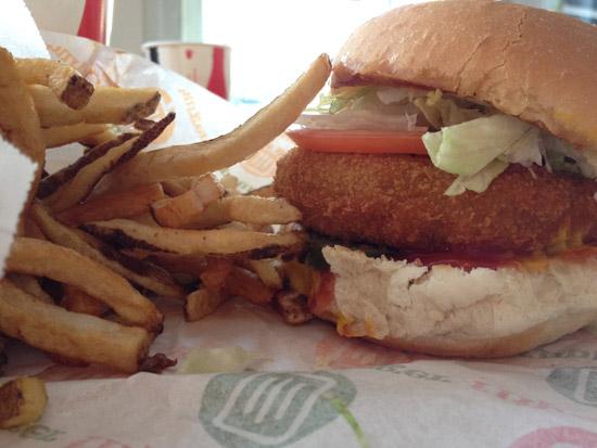 Vegan Burger at Flip Burger in Halifax, Nova Scotia
