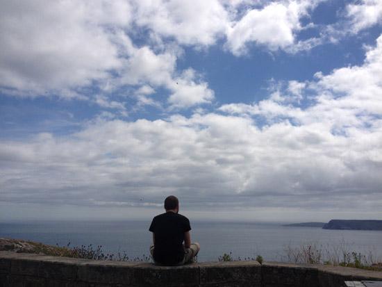 Ryan Patey on Signal Hill in St. John's, NL