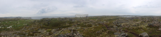 Panoramic of the Fogo Island Inn