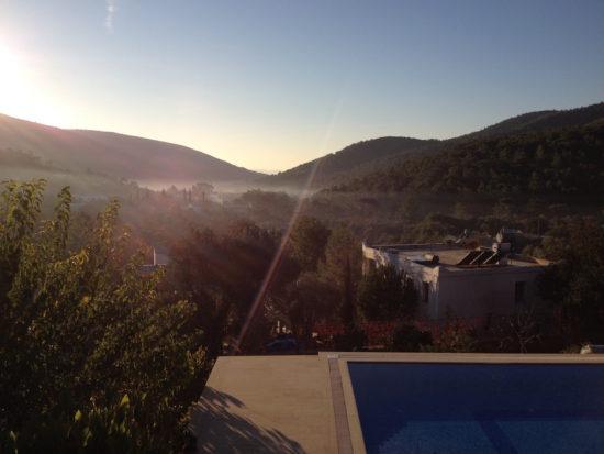View from a villa in Kızılağaç, Turkey
