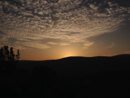 Sunset in Kızılağaç, Turkey
