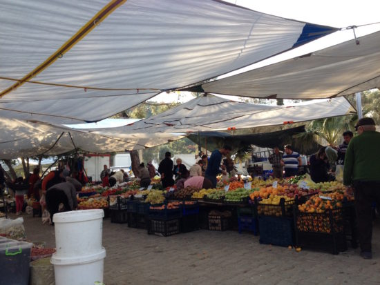 Famers' market in Kızılağaç, Turkey