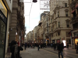 Istiklal Avenue in Istanbul, Turkey