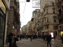 Istiklal Avenue in Istanbul, Turkey