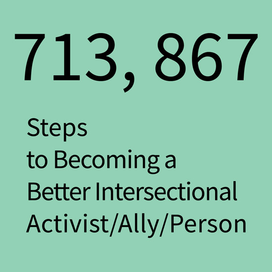 Cover for steps to becoming a better intersectional activist/ally/person