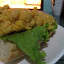 Chickpea sandwich in Costa Rica
