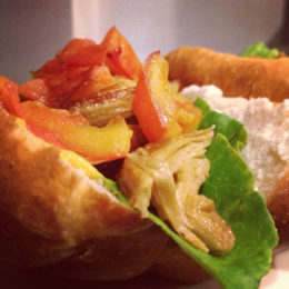 Vegetarian duck sandwich in Vietnam
