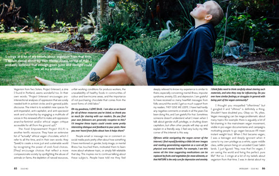 Page from Issue 12 Interview With Emily von Euw