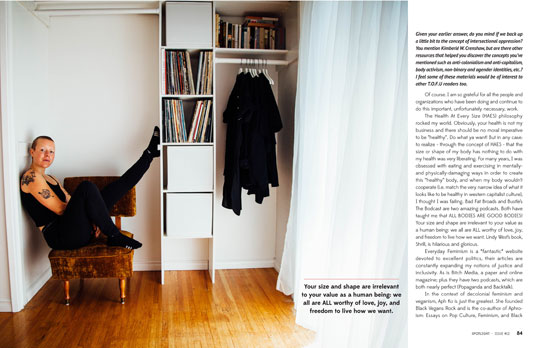 Page from Issue 12 Interview With Emily von Euw of This Rawsome Vegan Life