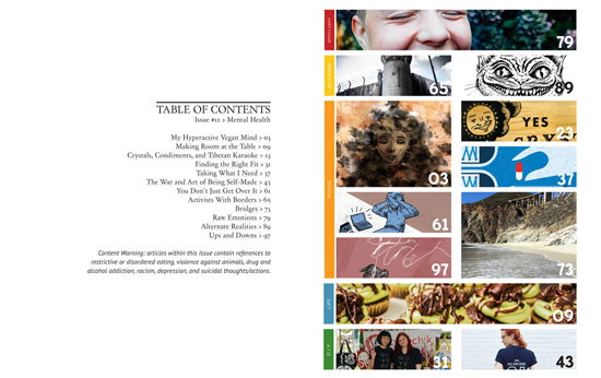 Issue 12 table of contents