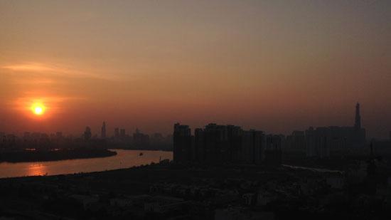 Photo of a sunset in Saigon, Vietnam
